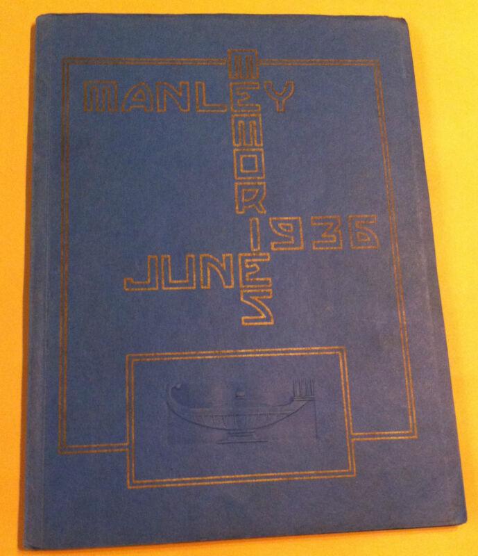 1936 Manley High School Yearbook - Chicago, Illinois - EXCELLENT