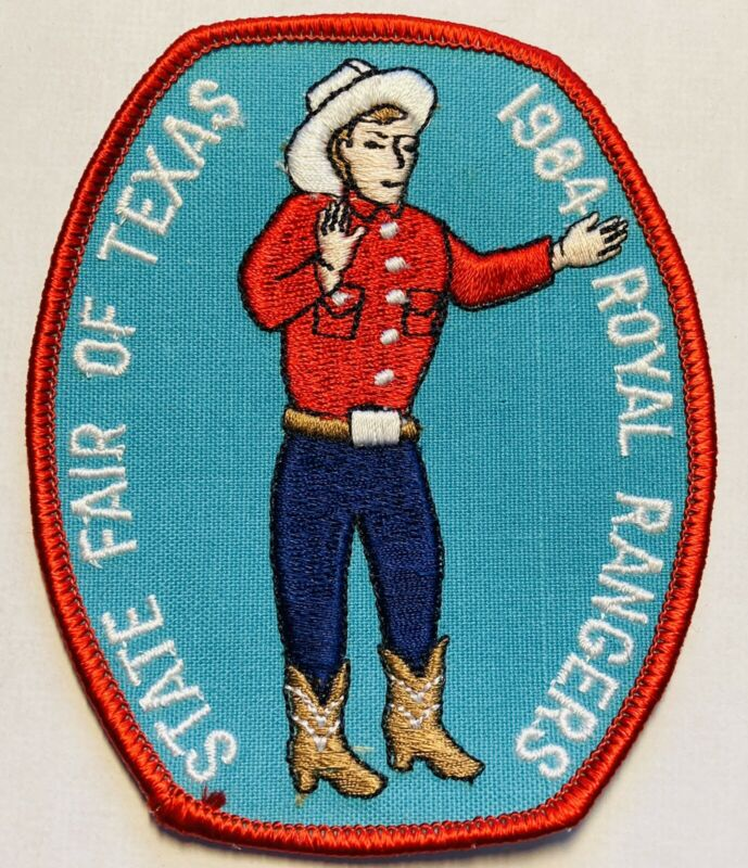 ROYAL RANGERS State Fair Of Texas Big Patch Embroidery Vintage Big Tex 1984