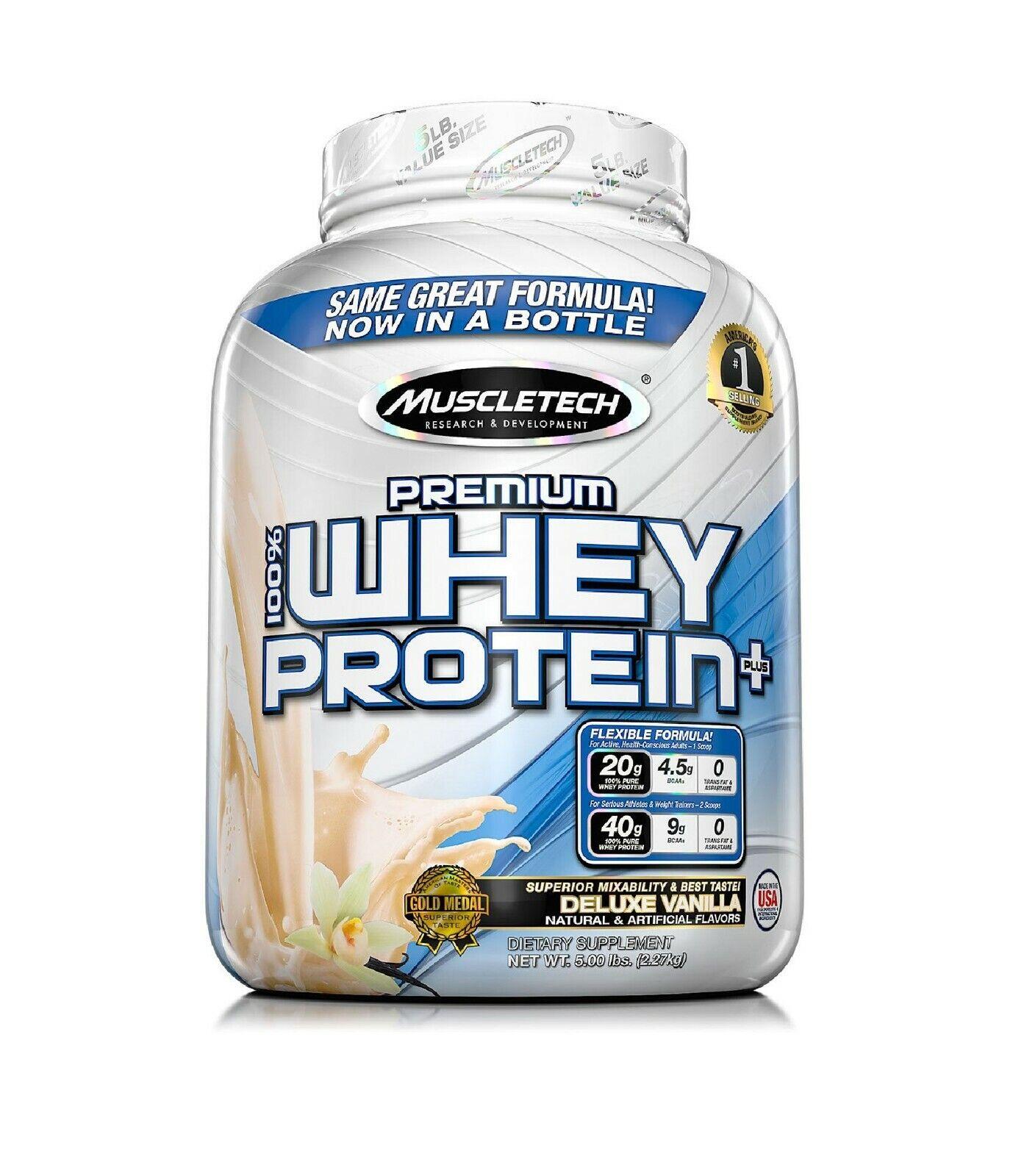 MuscleTech Premium 100% Whey Protein, Vanilla
