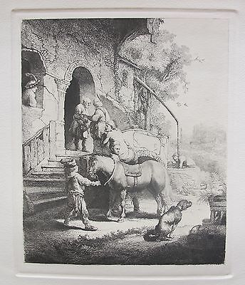 "REMBRANDT ""THE GOOD SAMARITAN"" Etching by Amand Durand"