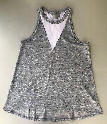 Athleta Utopia tank top M medium swing yoga mesh gray