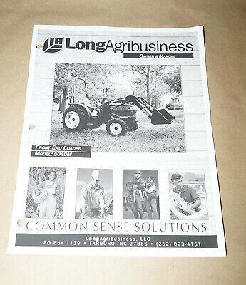 2003 Long Agribusiness Model 5040m Front End Loader Parts Manual Pn 751446