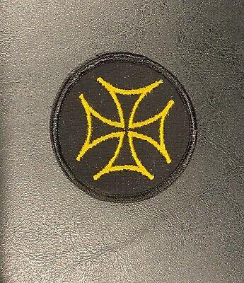 NOS Vintage Circle Maltese Cross Sew On Vest Patch Harley Indian Vintage (13)