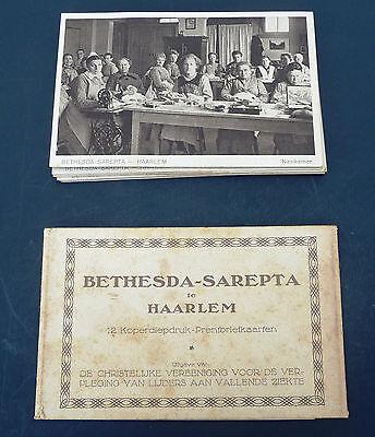 Vtg 1920S  Set 13 Postcards Deaconess Bethesda Sarepta Haarlem Dutch Netherlands
