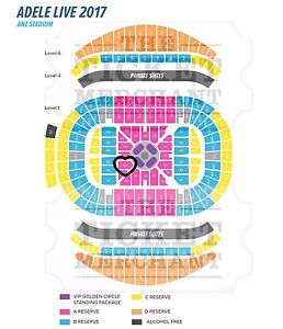 ADELE - 2 x A-Reserve Floor, Row F *BEST SEATS* Sydney City Inner Sydney Preview