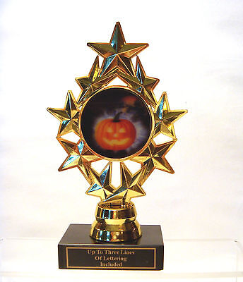 Pumpkin Carving Halloween Party (HALLOWEEN TROPHY PUMPKIN  CARVING COSTUME PARTY STAR INSERT HOLDER TRICK)