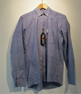 LAMBRETTA TROJAN RECORDS MENS SIZE S BRAND NEW CHECK SHIRT MOD SKA NORTHERN SOUL