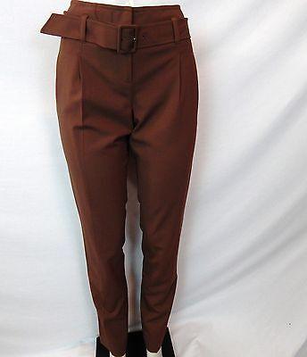 - ETCETERA BROWN SUMMER WOOL BELTED PANTS SLACKS sizes 2 6 8 10 12 14  NEW $195