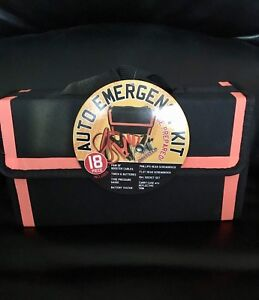 Brand new 18 piece auto emergency kit