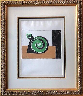 Pablo Picasso - Composition en Trois Couleurs - Original Mourlot Lithograph 1957