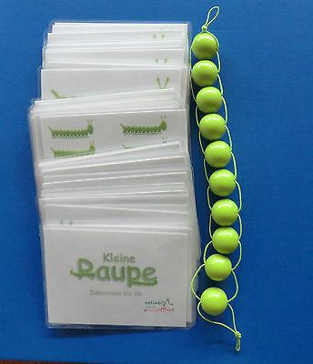 KLEINE RAUPE 20er Rechenkette +168 Lernkarten ~ Montessori Perlenmaterial Mathe