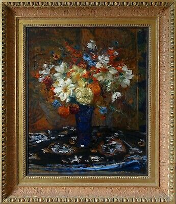 JACQUES EMILE BLANCHE FRENCH/BRITISH EDWARDIAN IMPRESSIONIST FLORAL OIL PAINTING
