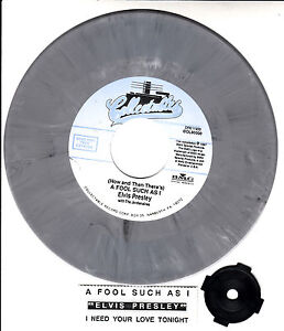 ELVIS-PRESLEY-A-Fool-Such-As-I-I-Need-Your-Love-Tonight-SWIRLED-VINYL-45-NEW