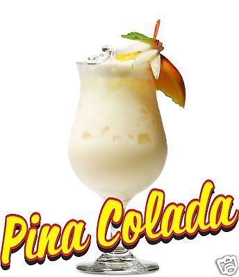 Pina Colada Drink Bar Pub Restaurant Vinyl Sticker Decal 12