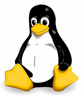 Linux GNU Logo Vinyl Bumper Sticker Decal Penguin Tux 4 Stickers