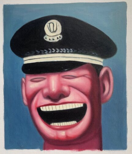 Smiling Chinese Policeman Contemporary Painting