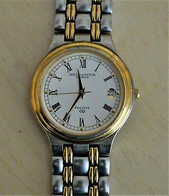 Solvil et Titus Panther Quartz Wrist Watch with Date