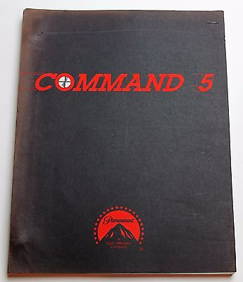 Command 5 * 1983 Movie Script * Wings Hauser & John Matuszak, Military Film