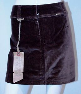 TOMMY-HILFIGER-Denim-13-Skirt-VELVET-Brown-FLOWER-NWT-FREE-SHIPPING