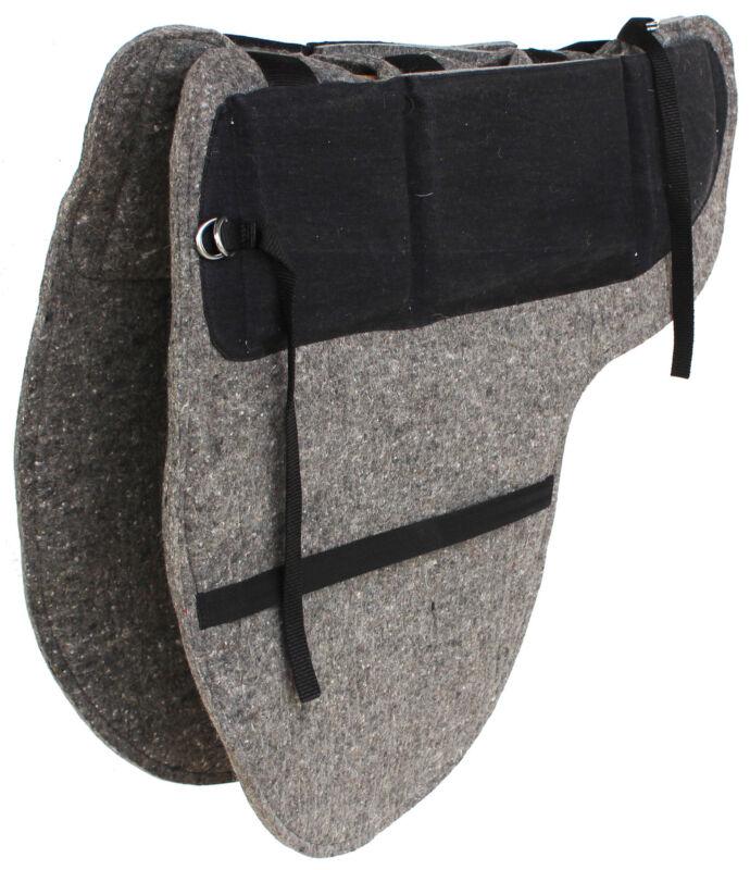 Australian Wool-Felt Moisture Wicking Horse Comfort Shim Pad Grey 109SP537