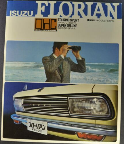 1970 Isuzu Florian Brochure 1600 Touring Sport Japanese Text Excellent Original