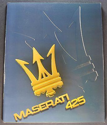 1986 Maserati 425 Biturbo Catalog Sales Brochure Excellent Original 86