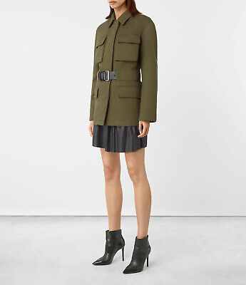 BN All Saints Kaia military spring jacket with leather belt - size UK4