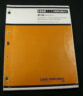 Case Vibromax At40 Vibration Plates Compactor Tamper Parts Manual
