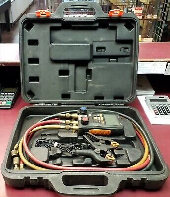Testo 550 Digital Manifold Kit With 3 Hoses 2 Clamps Case Fast Shipping