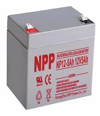 NPP 12V 5Ah Rechargeable SLA Battery For Alarm System WKA12-