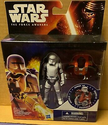 Star Wars The Force Awakens First Order Flametrooper Armour Up Action Figure