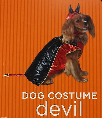 Halloween Black Red Devil Pet Dog Costume Size XSmall 2-6 lbs 6-9 in NWT