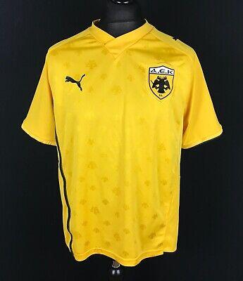 AEK Athens Puma 2009/2011 Home Football Shirt Men's Size XL Soccer Jersey Trikot image