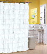 Flamenco Ruffle Shower Curtain