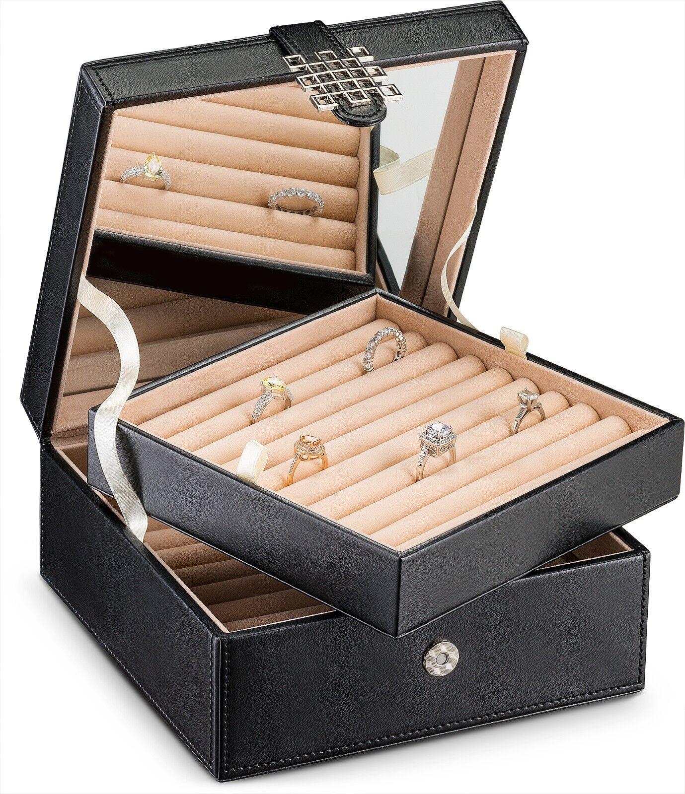 108 Slot Ring Box Organizer -Classic Jewelry Display Case Ho