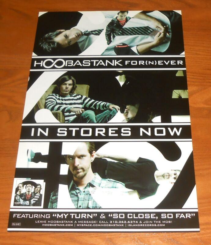 Hoobastank For(N)Ever Poster Original 2-Sided Promo 17x11
