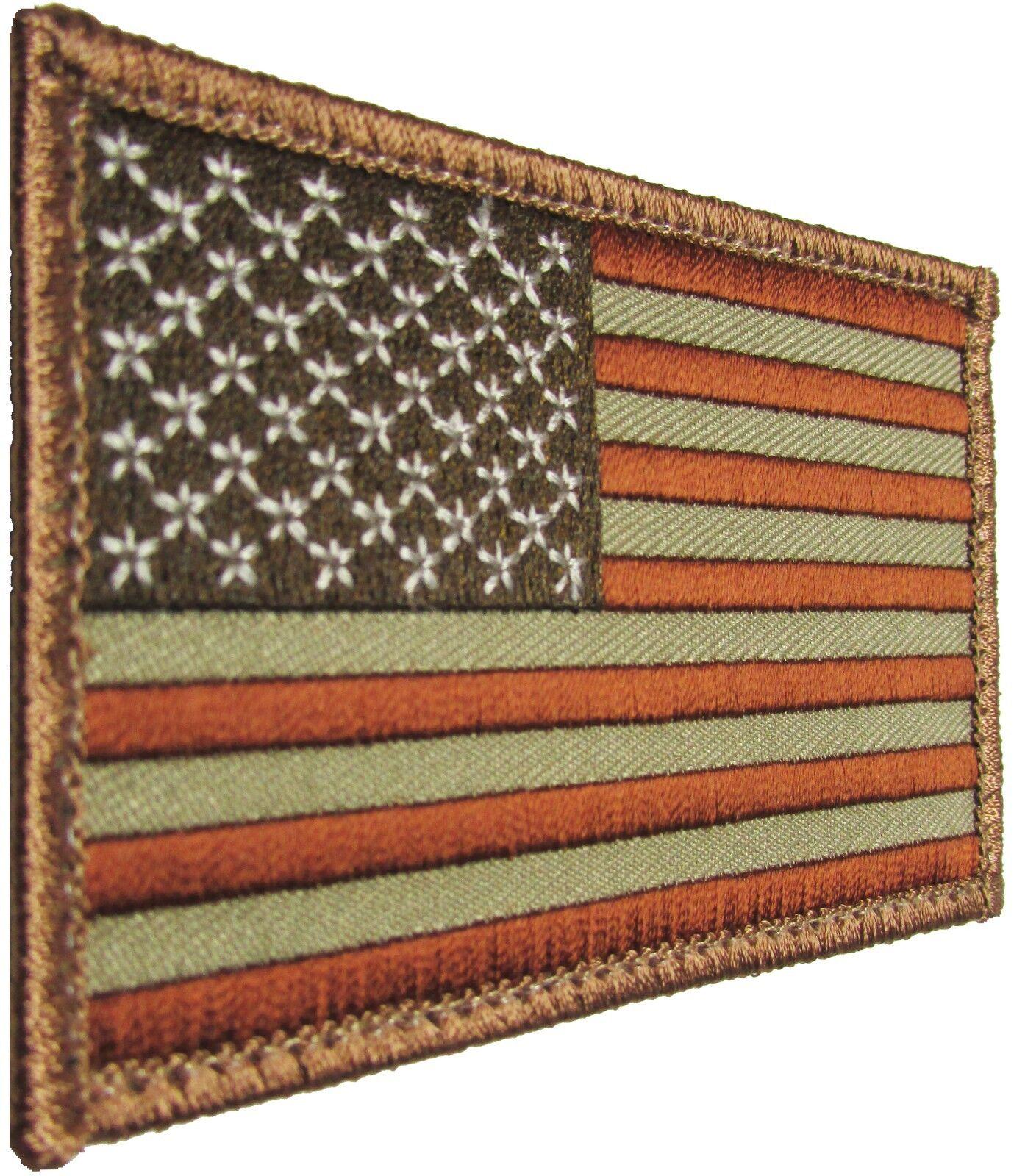 USA AMERICAN FLAG TACTICAL US MORALE MILITARY DESERT VELCRO