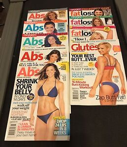 Fitness magazines and books