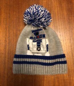 55fcf0ec927 Gap Kids Star Wars R2D2 Pom Beanie Winter Hat