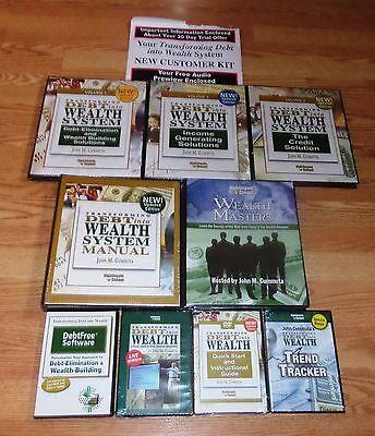 Transforming Debt Into Wealth Vol 1  2  3   Wealth Masters  9 Pc   John Cummuta