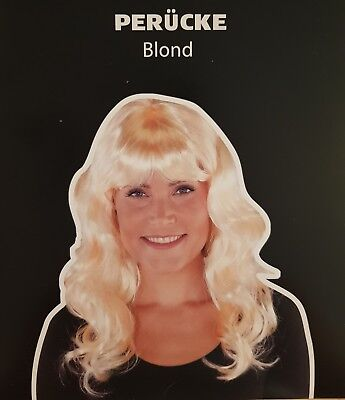 Perücken lang Halloween Karneval sexy Blond Damen  Kostüm
