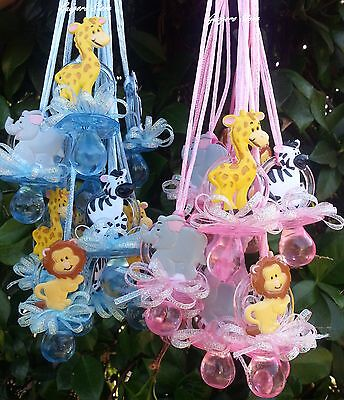 Jungle Baby Shower Favors (Jungle Safari NOAH'S Pacifier Necklaces Baby Shower Games Prizes Favors)