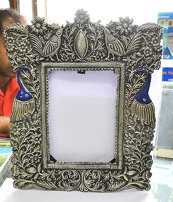 Vintage antique solid silver Handcrafted photo frame Rajasthan (Vintage Frames India)