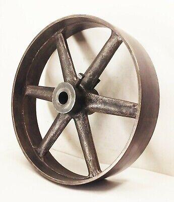 Vtg Antique Large Cast Iron 16 X 3 12 Flywheel Line Shaft Flat Belt Pulley