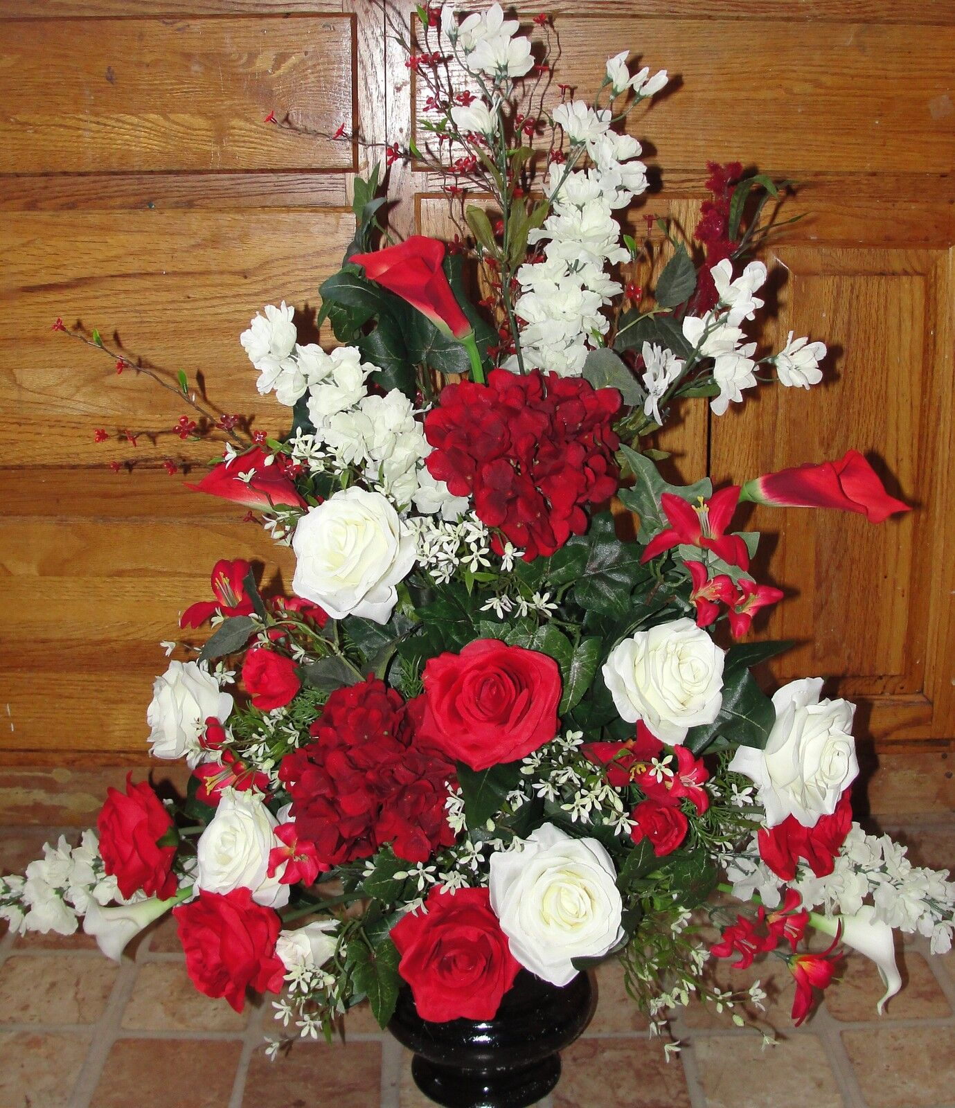 Silk Flower Arrangements Church Altar