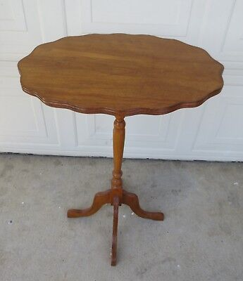 Pair matching tilt-top tea tables Brazilian wood 4 - Brazilian Wood Furniture