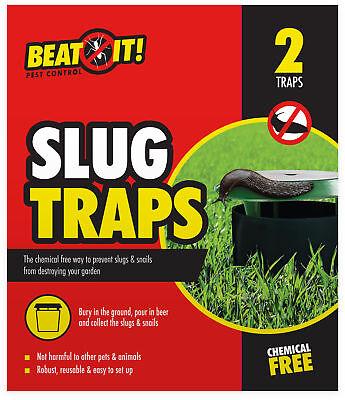 2 x Humane Beer Slug Traps Safe No Chemicals Garden Outdoor Pest Repellent