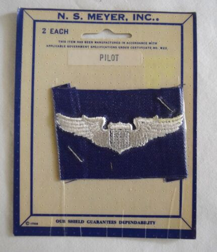 Vintage U.S. Air Force Pilot Patches (2 each) N.S. Meyer