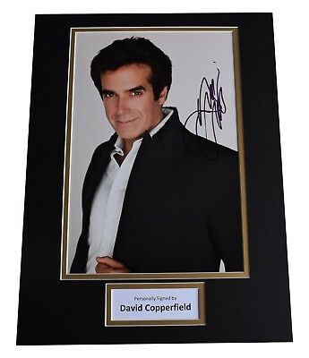 David Copperfield Signed autograph 16x12 photo display Magic TV AFTAL COA