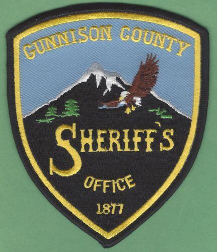 GUNNISON COUNTY SHERIFF COLORADO SHOULDER PATCH